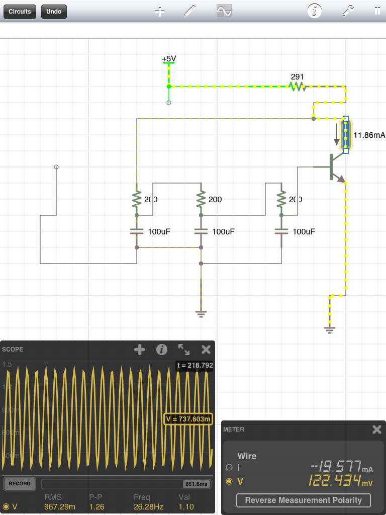 41j Blog Archive Phase Shift Oscillator Circuit Using Transistor Image Heres A Simulation Of The Shown Above